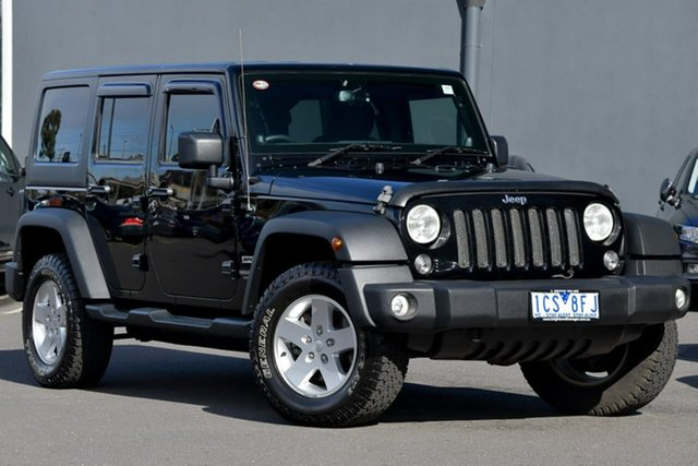 Used Jeep Wrangler JK MY2014 Unlimited Sport, 2014 Jeep Wrangler JK MY2014 Unlimited Sport Black 5 Speed Automatic Softtop
