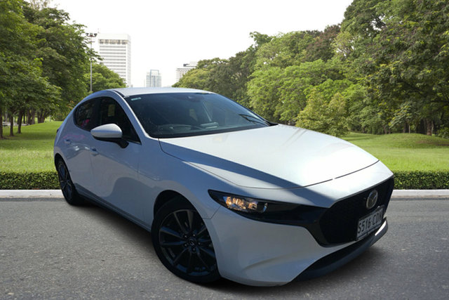 Used Mazda 3 BP2H7A G20 SKYACTIV-Drive Evolve, 2019 Mazda 3 BP2H7A G20 SKYACTIV-Drive Evolve White 6 Speed Sports Automatic Hatchback