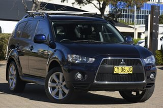 2010 Mitsubishi Outlander ZH MY10 Activ Blue 6 Speed CVT Auto Sequential Wagon.
