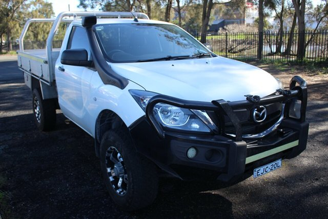 Used Mazda BT-50 UR0YG1 XT, 2016 Mazda BT-50 UR0YG1 XT White 6 Speed Sports Automatic Cab Chassis
