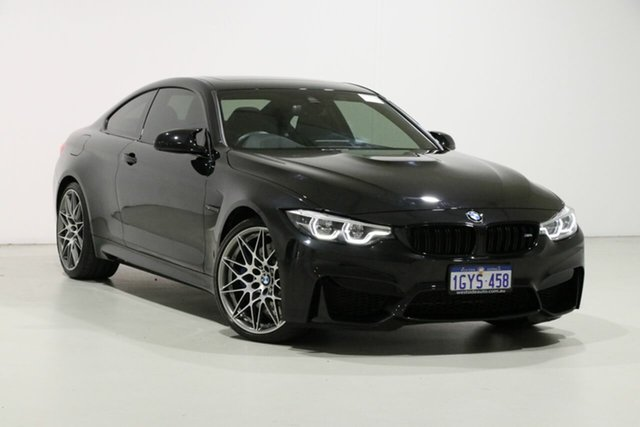 Used BMW M4 F82 MY18 Competition, 2018 BMW M4 F82 MY18 Competition Black 7 Speed Auto Dual Clutch Coupe