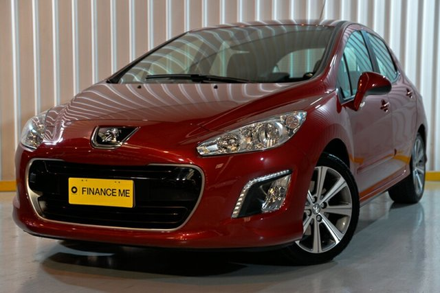 Used Peugeot 308 T7 MY12 Active, 2012 Peugeot 308 T7 MY12 Active Red/Black 6 Speed Manual Hatchback