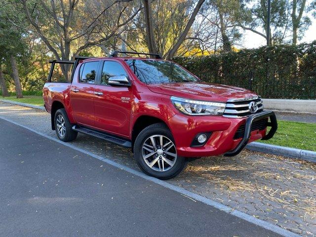 Used Toyota Hilux GUN126R SR5 Double Cab, 2016 Toyota Hilux GUN126R SR5 Double Cab Red 6 Speed Sports Automatic Utility