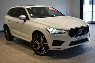 2018 Volvo XC60 UZ MY18 D5 AWD R-Design Ice White 8 Speed Sports Automatic Wagon.