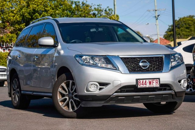 Used Nissan Pathfinder R52 MY15 ST X-tronic 4WD, 2015 Nissan Pathfinder R52 MY15 ST X-tronic 4WD Silver, Chrome 1 Speed Constant Variable Wagon