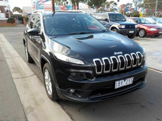 2014 Jeep Cherokee KL Longitude (4x4) Black 9 Speed Automatic Wagon.