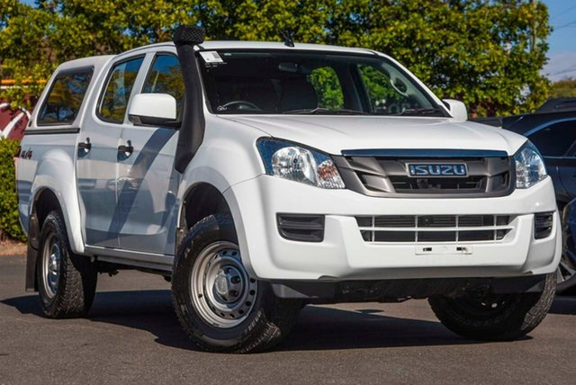 Used Isuzu D-MAX MY15 SX Crew Cab, 2014 Isuzu D-MAX MY15 SX Crew Cab White 5 Speed Sports Automatic Utility