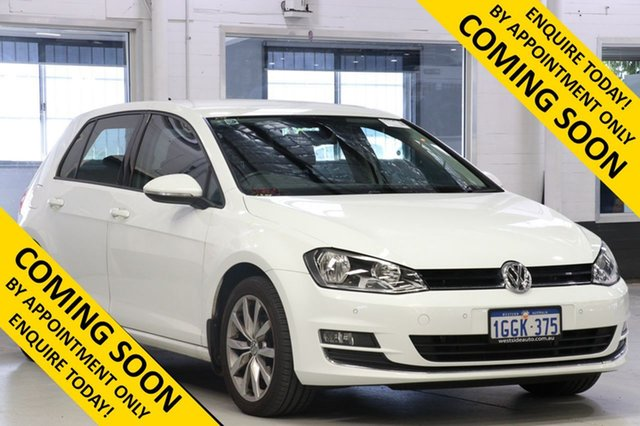 Used Volkswagen Golf AU MY15 110 TDI Highline, 2015 Volkswagen Golf AU MY15 110 TDI Highline White 6 Speed Direct Shift Hatchback