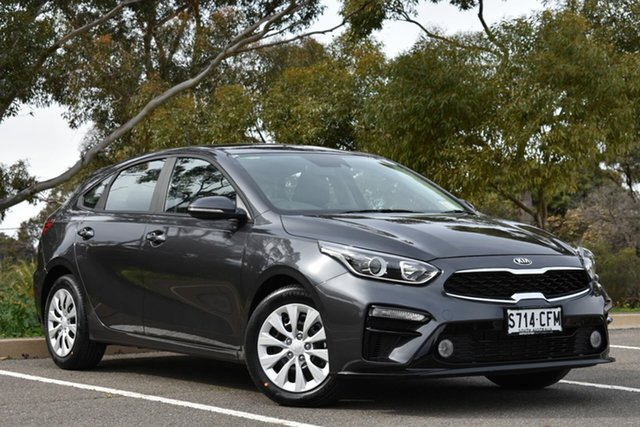 Demo Kia Cerato BD MY20 S, 2020 Kia Cerato BD MY20 S Platinum Graphite 6 Speed Sports Automatic Hatchback