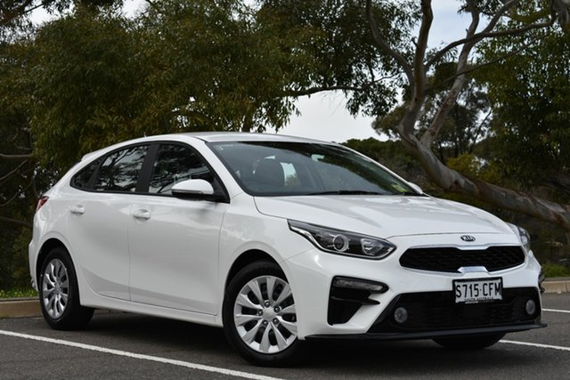 Demo Kia Cerato BD MY20 S, 2020 Kia Cerato BD MY20 S Clear White 6 Speed Sports Automatic Hatchback