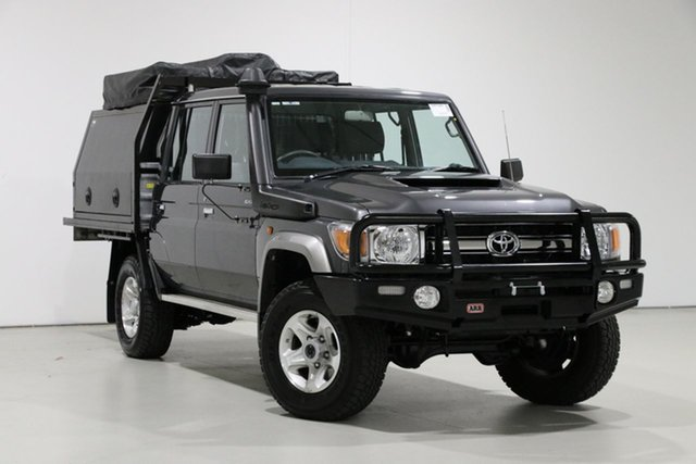 Used Toyota Landcruiser VDJ79R GXL (4x4), 2019 Toyota Landcruiser VDJ79R GXL (4x4) Graphite 5 Speed Manual Double Cab Chassis