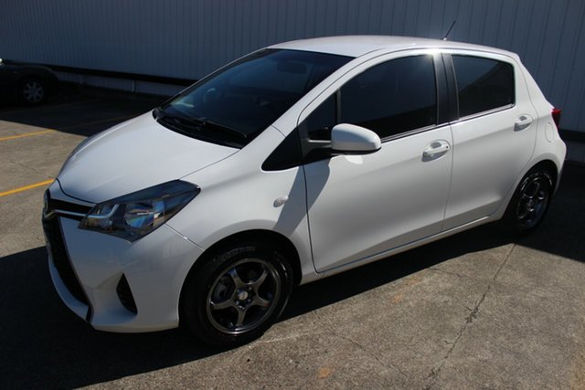 Used Toyota Yaris NCP130R Ascent, 2015 Toyota Yaris NCP130R Ascent White 5 Speed Manual Hatchback