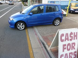 2003 Mazda 2 DY Genki Blue 5 Speed Manual Hatchback.