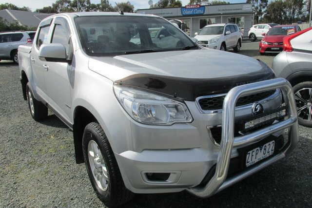 Used Holden Colorado RG MY13 LT Crew Cab, 2012 Holden Colorado RG MY13 LT Crew Cab Silver 6 Speed Sports Automatic Utility