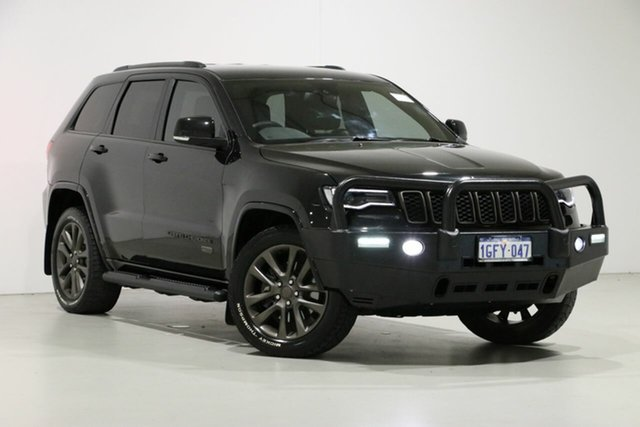 Used Jeep Grand Cherokee WK MY16 75th Anniversary (4x4), 2016 Jeep Grand Cherokee WK MY16 75th Anniversary (4x4) Black 8 Speed Automatic Wagon