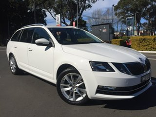 2019 Skoda Octavia NE MY20 110TSI DSG White 7 Speed Sports Automatic Dual Clutch Wagon.