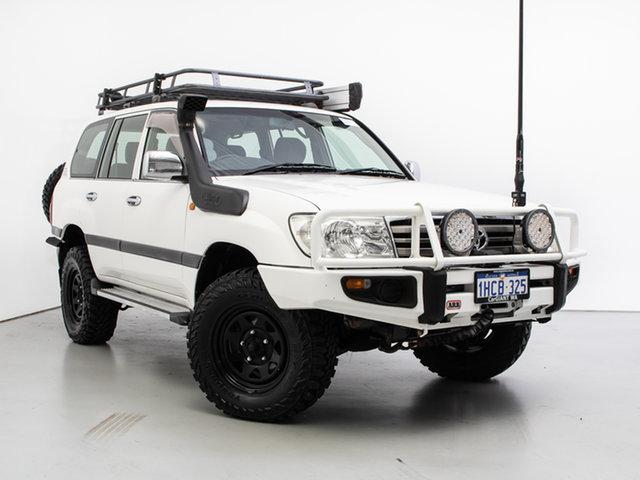 Used Toyota Landcruiser HDJ100R Upgrade GXL (4x4), 2005 Toyota Landcruiser HDJ100R Upgrade GXL (4x4) White 5 Speed Automatic Wagon