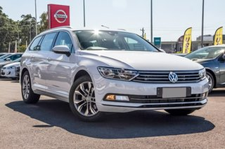 2017 Volkswagen Passat 3C (B8) MY18 132TSI DSG White 7 Speed Sports Automatic Dual Clutch Wagon.