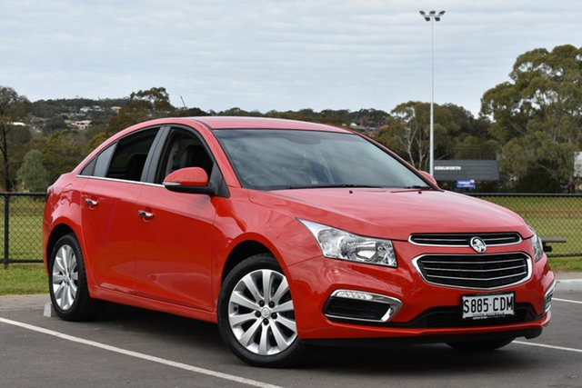 Used Holden Cruze JH Series II MY15 CDX, 2015 Holden Cruze JH Series II MY15 CDX Red 6 Speed Sports Automatic Sedan