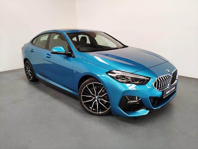 Demo BMW 218i F44 M Sport Gran Coupe D-CT, 2020 BMW 218i F44 M Sport Gran Coupe D-CT Snapper Rocks Blue 7 Speed Sports Automatic Dual Clutch