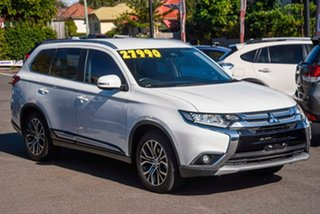 2017 Mitsubishi Outlander ZK MY17 LS 4WD Safety Pack White 6 Speed Sports Automatic Wagon.