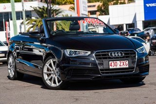 2014 Audi A3 8V MY15 Attraction S Tronic Black 7 Speed Sports Automatic Dual Clutch Cabriolet.