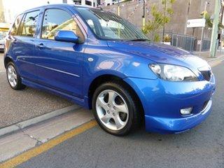 2003 Mazda 2 DY Genki Blue 5 Speed Manual Hatchback.