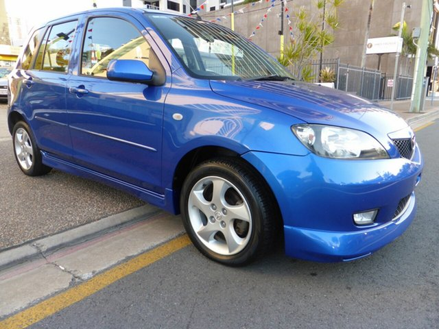 Used Mazda 2 DY Genki Southport, 2003 Mazda 2 DY Genki Blue 5 Speed Manual Hatchback