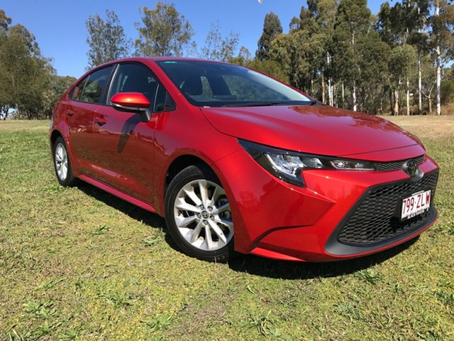 Demo Toyota Corolla Mzea12R Ascent Sport Oakey, 2019 Toyota Corolla Mzea12R Ascent Sport Volcanic Red 10 Speed Constant Variable Sedan