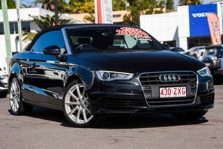 2014 Audi A3 8V MY15 Attraction S Tronic Black 7 Speed Sports Automatic Dual Clutch Cabriolet