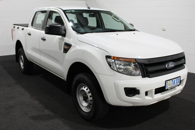 Used Ford Ranger PX XL Double Cab, 2013 Ford Ranger PX XL Double Cab White 6 Speed Sports Automatic Utility