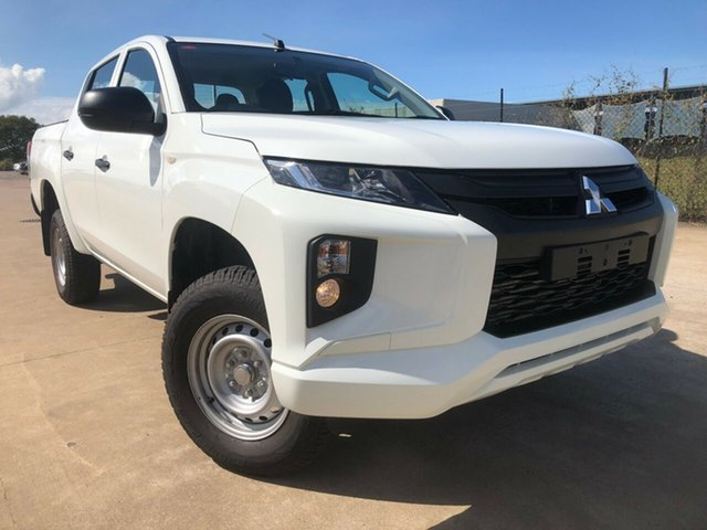 Used Mitsubishi Triton MR MY19 GLX Double Cab, 2019 Mitsubishi Triton MR MY19 GLX Double Cab White 6 Speed Sports Automatic Utility