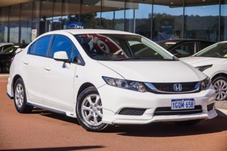 2016 Honda Civic 9th Gen Ser II MY15 VTi White 5 Speed Sports Automatic Sedan.
