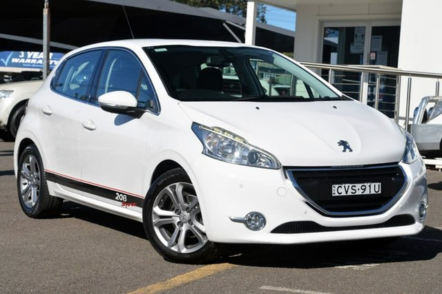 Used Peugeot 208 A9 MY14 Allure, 2014 Peugeot 208 A9 MY14 Allure White 4 Speed Automatic Hatchback