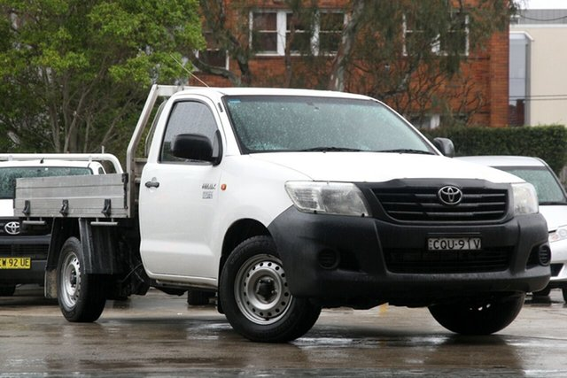 Used Toyota Hilux TGN16R MY14 Workmate, 2013 Toyota Hilux TGN16R MY14 Workmate Glacier White 5 Speed Manual Cab Chassis
