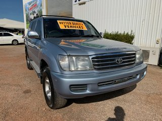 2002 Toyota Landcruiser FZJ105R GXL Blue 4 Speed Automatic Wagon.