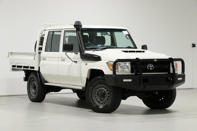 Used Toyota Landcruiser VDJ79R MY18 Workmate (4x4), 2018 Toyota Landcruiser VDJ79R MY18 Workmate (4x4) White 5 Speed Manual Double Cab Chassis