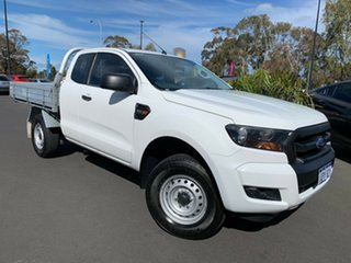 2016 Ford Ranger PX MkII XL Super Cab 4x2 Hi-Rider White 6 Speed Sports Automatic Cab Chassis.