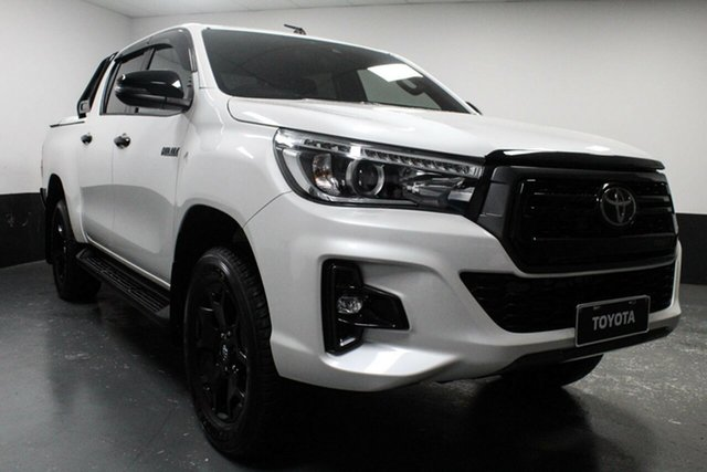 Used Toyota Hilux GUN126R Rogue Double Cab, 2019 Toyota Hilux GUN126R Rogue Double Cab White 6 Speed Sports Automatic Utility