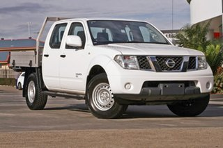 2014 Nissan Navara D40 S8 RX White 5 Speed Automatic Cab Chassis.