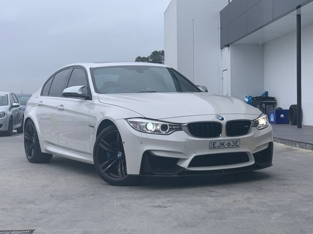 Used BMW M3 F80 M-DCT Liverpool, 2015 BMW M3 F80 M-DCT White 7 Speed Sports Automatic Dual Clutch Sedan