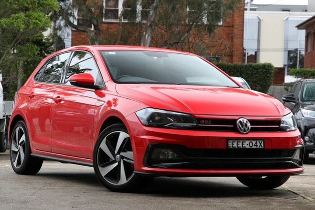 Used Volkswagen Polo AW MY19 GTi, 2019 Volkswagen Polo AW MY19 GTi Red 6 Speed Auto Direct Shift Hatchback