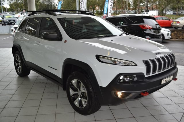 Used Jeep Cherokee KL MY15 Trailhawk, 2014 Jeep Cherokee KL MY15 Trailhawk White 9 Speed Sports Automatic Wagon