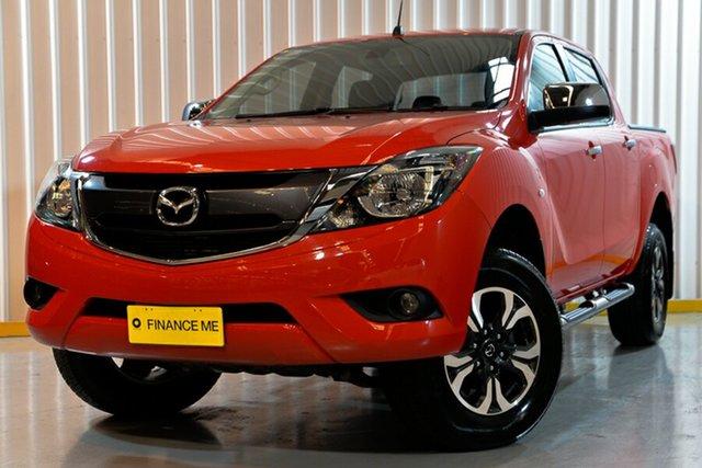 Used Mazda BT-50 UR0YG1 XTR 4x2 Hi-Rider, 2017 Mazda BT-50 UR0YG1 XTR 4x2 Hi-Rider Red/Black 6 Speed Sports Automatic Utility