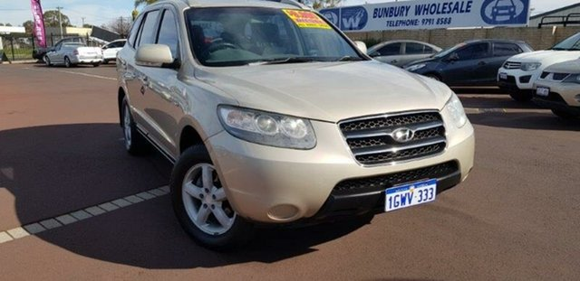 Used Hyundai Santa Fe CM MY09 SX East Bunbury, 2009 Hyundai Santa Fe CM MY09 SX Gold 5 Speed Sports Automatic Wagon