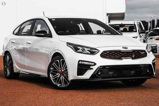 Demo Kia Cerato BD MY20 GT DCT, 2020 Kia Cerato BD MY20 GT DCT White 7 Speed Sports Automatic Dual Clutch Hatchback