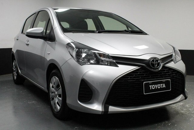 Used Toyota Yaris NCP130R Ascent, 2015 Toyota Yaris NCP130R Ascent Silver 5 Speed Manual Hatchback