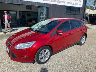 2013 Ford Focus LW MK2 Trend Red 6 Speed Automatic Sedan.