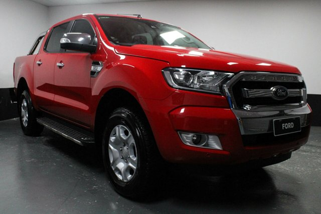 Used Ford Ranger PX MkII XLT Double Cab, 2017 Ford Ranger PX MkII XLT Double Cab Red 6 Speed Sports Automatic Utility