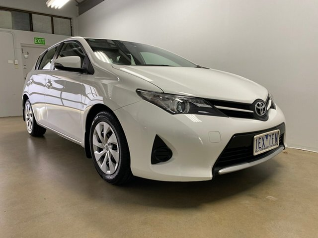 Used Toyota Corolla ZRE182R Ascent, 2015 Toyota Corolla ZRE182R Ascent White 7 Speed CVT Auto Sequential Hatchback